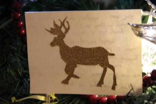 Homemade Christmas card from Jenn and Josh