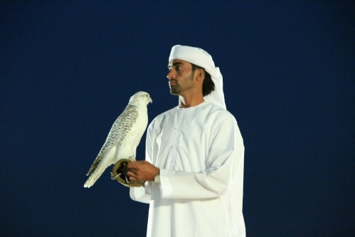 men with falcons