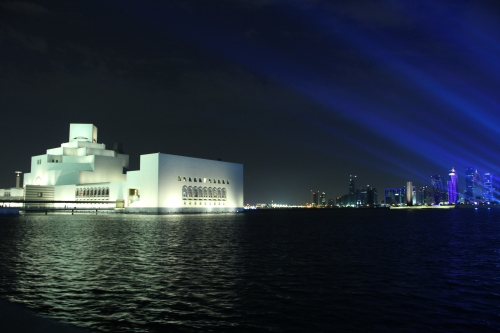 The Museum of Islamic Art is a gorgeous back drop for...just about anything!