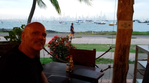 Picturesque dinner spot looking back at the city across the harbour. Had the best ceviche there (ok..it was our first ceviche and we loved it!)